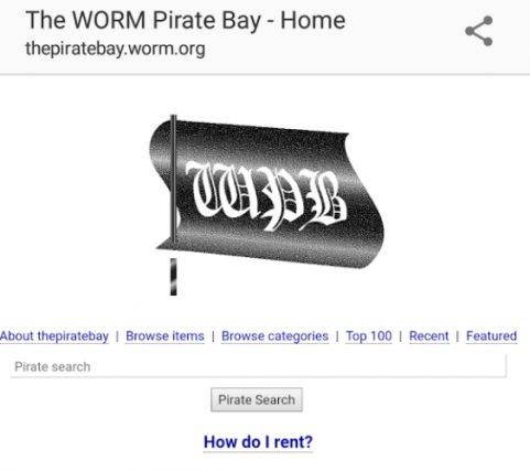 WORM Pirate Bay Capsule